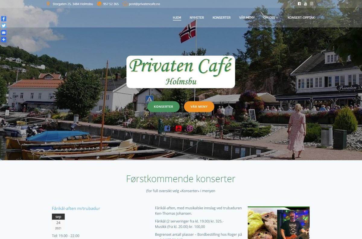Privaten Café - ny nettside